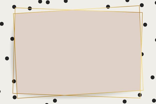 Современная золотая рамка