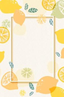 Лимонная рамка с рисунком