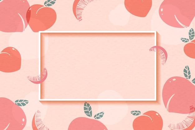 Персиковая рамка с рисунком