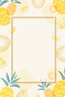 Рамка с рисунком в ананасе