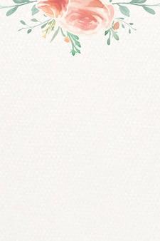 水彩ローズカード