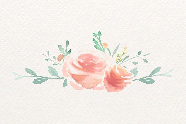 Розы в акварели