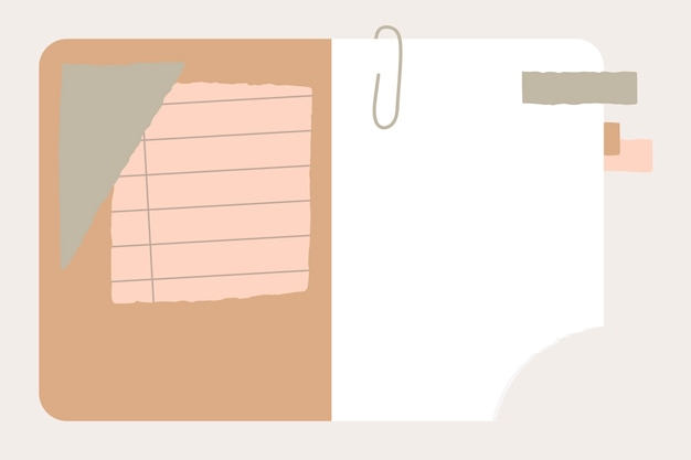 Разорванная бумага в тетради