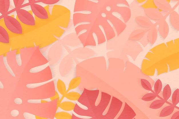 夏の熱帯のカラフルな葉