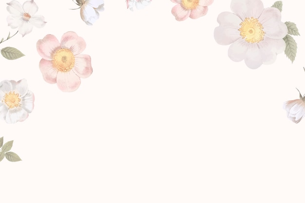 女性の花の背景