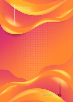 オレンジ色の波の背景