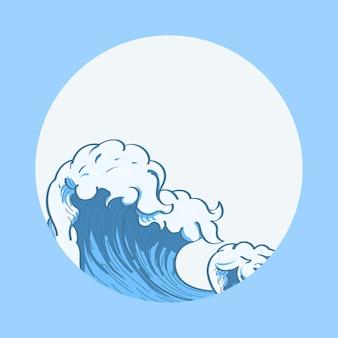 Японская волна каракули