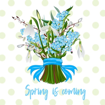 春の花の花束