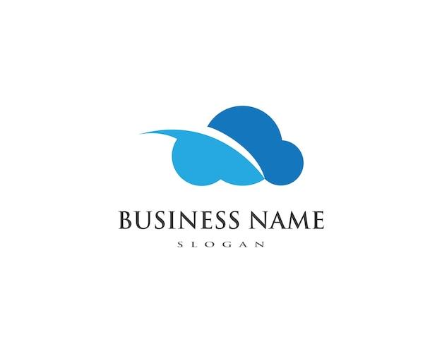 Шаблон облачного логотипа