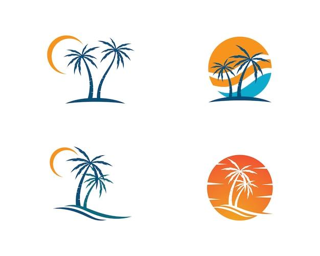 パームツリーのロゴテンプレートイラストベクトル