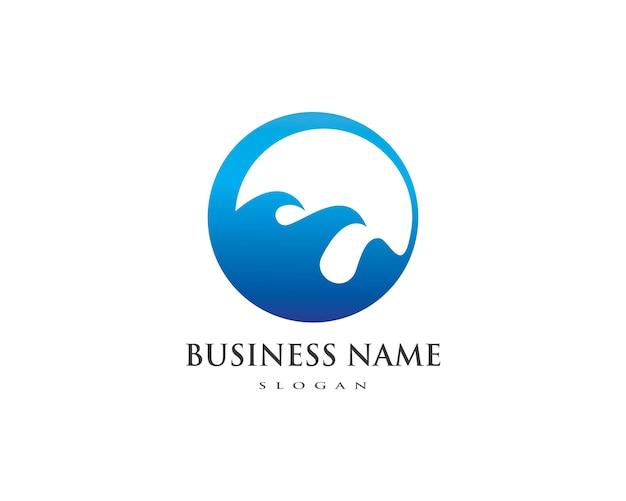 Шаблон логотипа воды