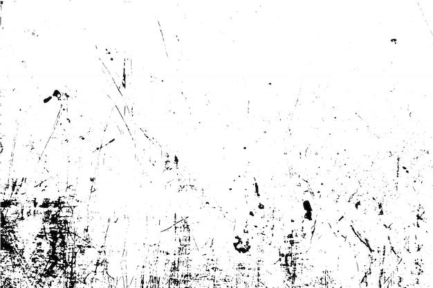 黒と白のイラストグランジテクスチャベクトル。オーバーレイグランジ効果の概念。