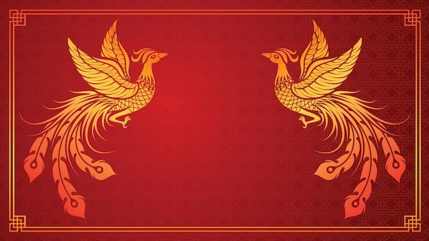 Китайский шаблон феникс