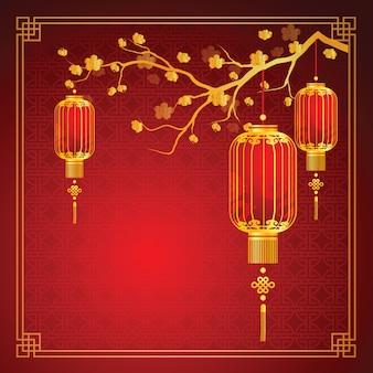 中国のランタンテンプレート