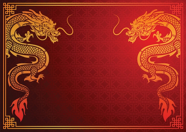 中国のドラゴンテンプレート