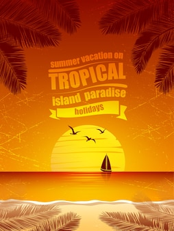Тропический островной вектор
