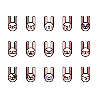 ウサギの絵文字アイコン