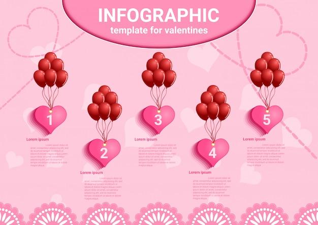 バレンタイン愛インフォグラフィックデータ。