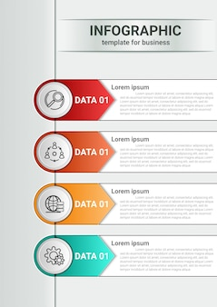 インフォグラフィックビジネスマーケティングコンセプトワークフローレイアウトデザインテンプレート