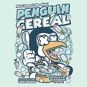 ペンギン穀物箱漫画
