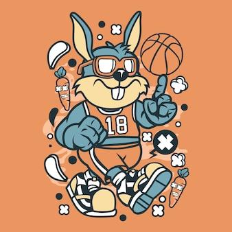 ウサギのバスケットボール選手