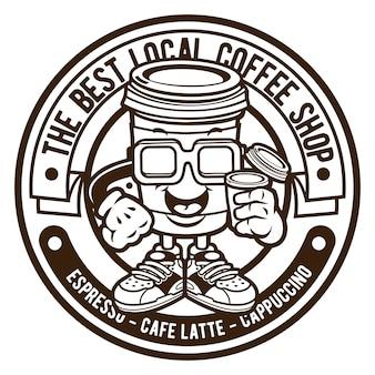 コーヒーショップのロゴ