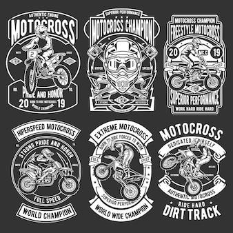 Набор значков для мотокросса