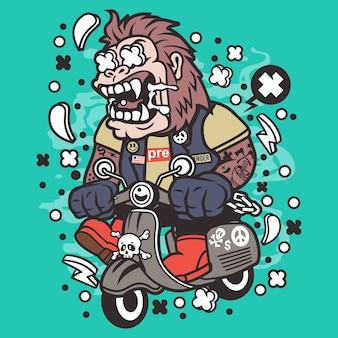Горилла скутер