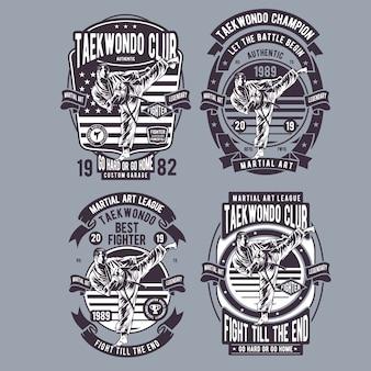 Тхэквондо дизайн иллюстрации