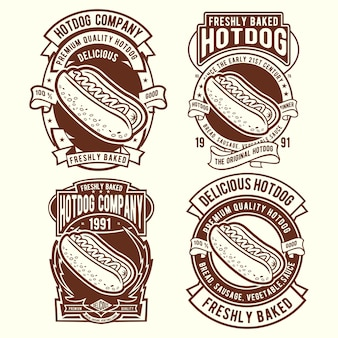 Дизайн значка хот-дога