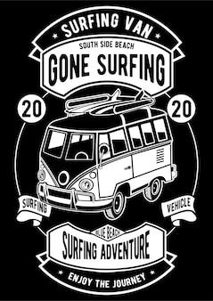 Серфинг ван постер