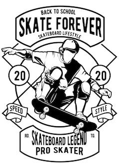 Скейт форевер плакат