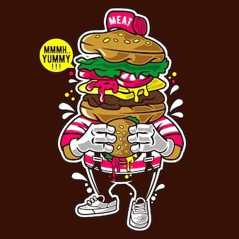 私はバーガーを愛する