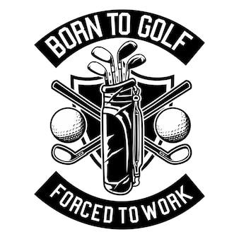 Родился в гольф