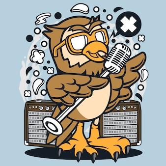 フクロウの歌手の漫画