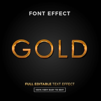 Редактируемый текстовый эффект -золотый стиль