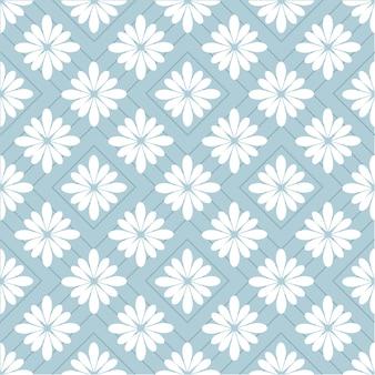 幾何学的な花の背景とシームレスなパターン