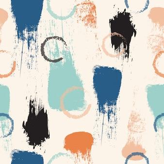抽象的なパステルカラーのブラシストロークのシームレスパターン