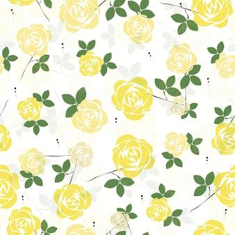 シームレスなかわいいバラの花のパターンの背景