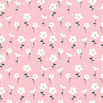 かわいい手描きの花のパターン
