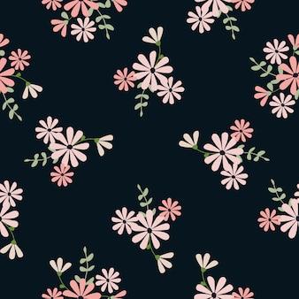 シームレスなかわいい花柄の背景