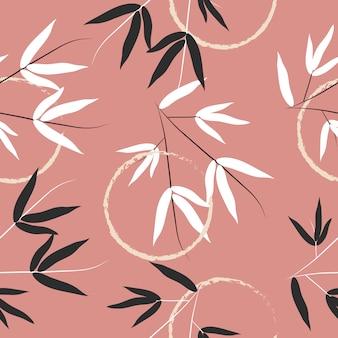 Бесшовные абстрактный узор листьев