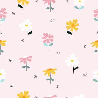 パステル調のシームレスな花柄