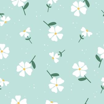 かわいい手描きヴィンテージ花柄シームレスな背景のベクトル