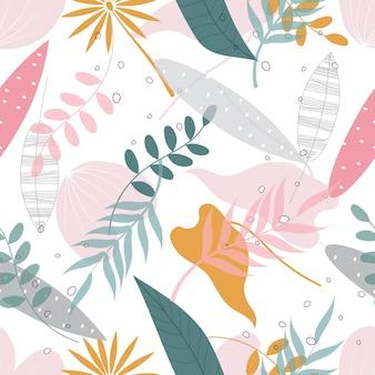Бесшовные абстрактные цветочные обои фон