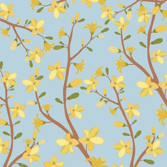 美しい黄色の花のパターン。
