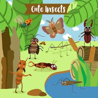 昆虫バグ動物漫画