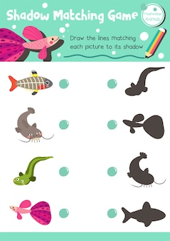 シャドーマッチゲーム淡水動物