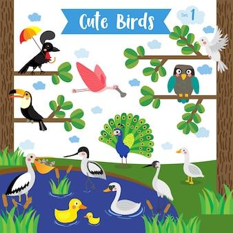 かわいい鳥動物漫画