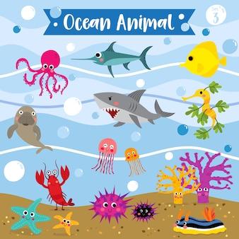 Океанский мультфильм животных